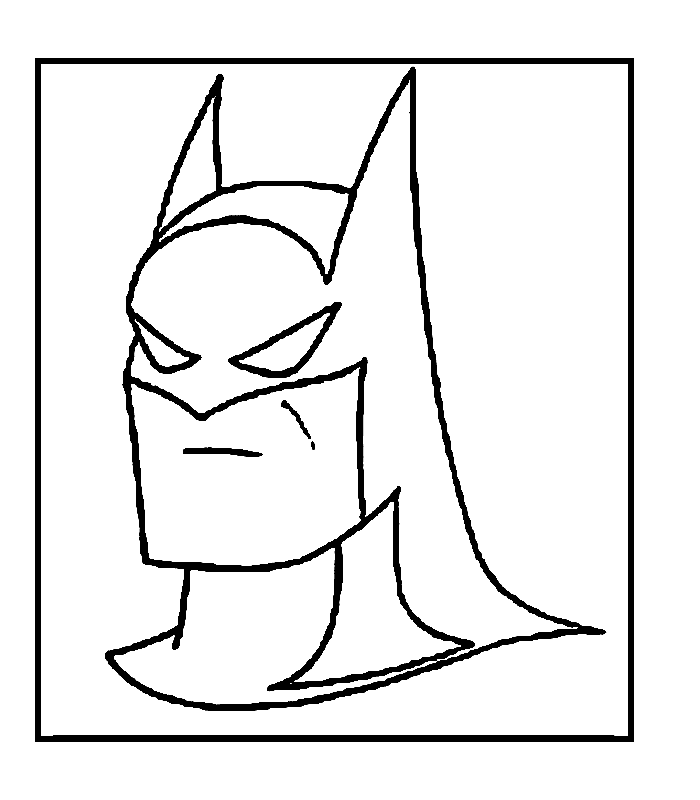 Batman Boyama Sayfasi 1 Okul öncesi Etkinlik Faliyetleri