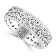 3.40 ct Men's Round Cut Diamond Eternity Wedding Band Ring