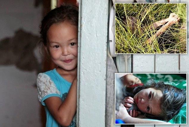 'Mowgli' girl, Karina Chikitova, 5, who survived 12 nights in the Siberian wilderness