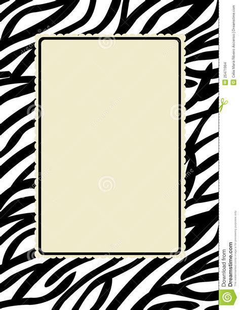 Zebra Print Frame Stock Images   Image: 25471994