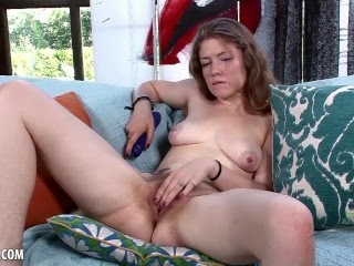 Apricot Pitts Strips To Masturbate And Orgasm With Vibrator