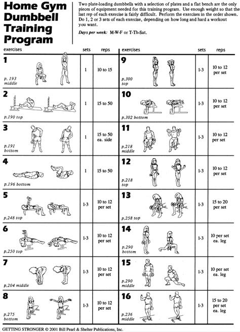 click    printable  dumbbell workout