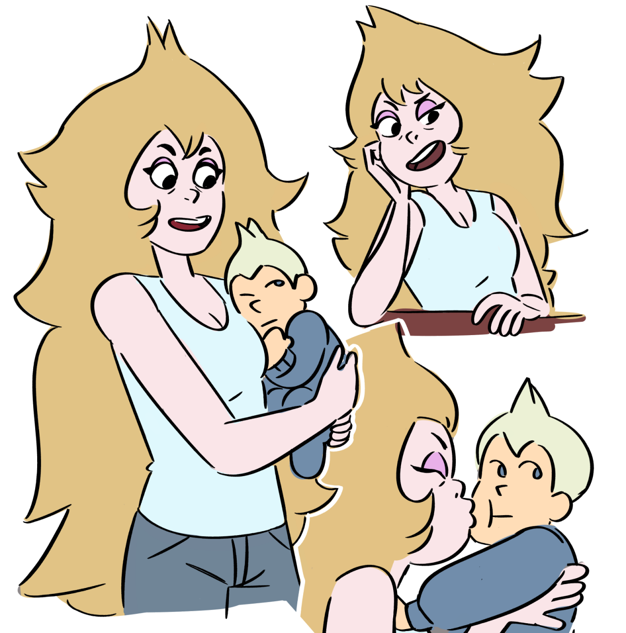 """she a good mom dont use/repost without my permission / dont tag as """"ID/kin"""""""