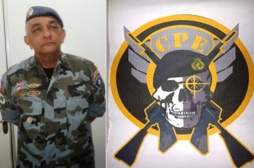 Coronel Ivaldo Barbosa comandando o CPE