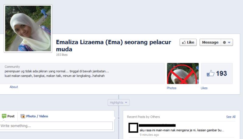 BWrN4 Emaliza Lizaema – Gadis Yang Hina Negeri Sabah Di Facebook
