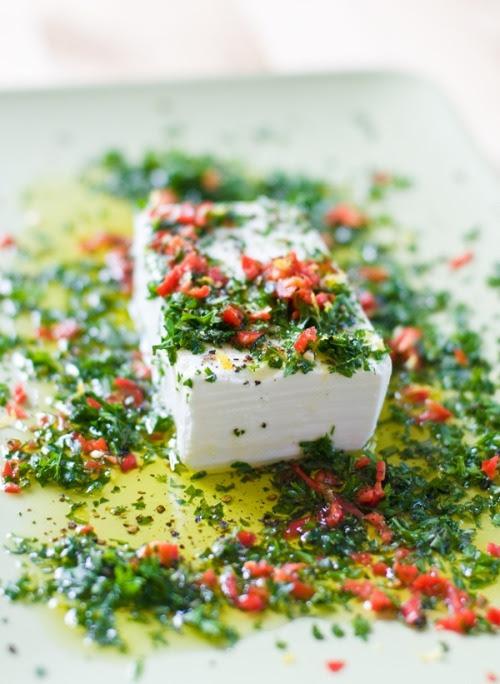 Feta Dressed w/ Chili, Lemon, Olive Oil & Herbs