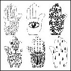 "The Crafters Workshop-12"" Templates-Henna Hands"