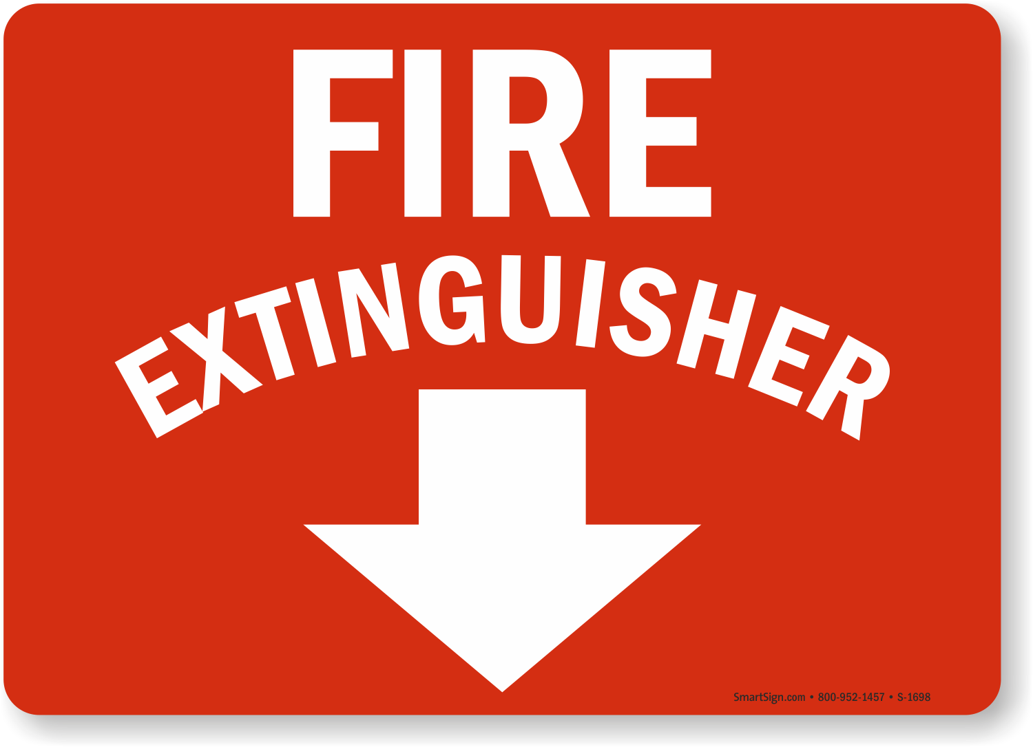 fire extinguisher emergency sign s 1698