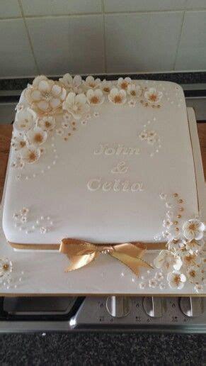 Golden Anniversary Cake    Anniversary Cakes in 2019