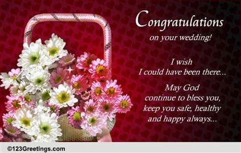 Congratulations & Best Wishes! Free Wedding Etc eCards