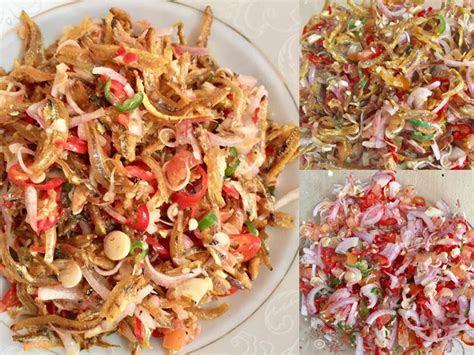 resepi kerabu ikan bilis rangup masam pedas berseleranya
