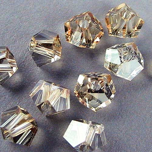 27753101001002 Swarovski Bead - 4.5 mm Simplicity Cut (5310) - Crystal Golden Shadow (1)
