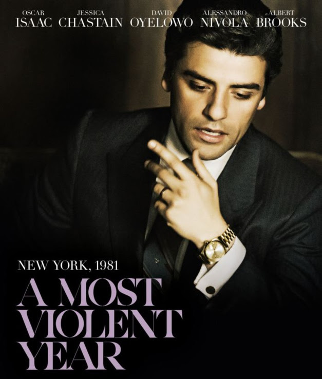 A most violent year : Oscar Isaac porte une Rolex Day-Date en or jaune