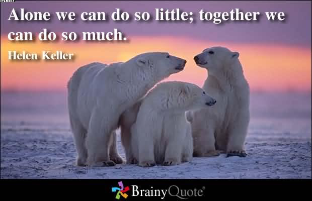 Alone We Can Do So Much Little Together We Can Do So Much Helen