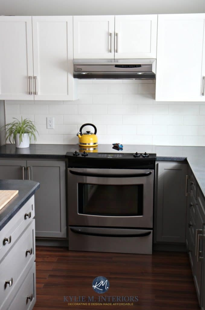 A Budget Friendly Kitchen Update - White, Gray and Gorgeous!