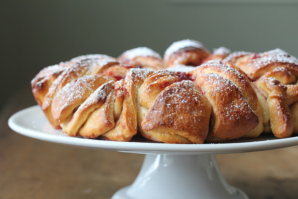 Brioche Flower with Cherry Preserves