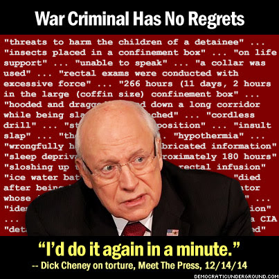 Cheney looking like a cornered rat.