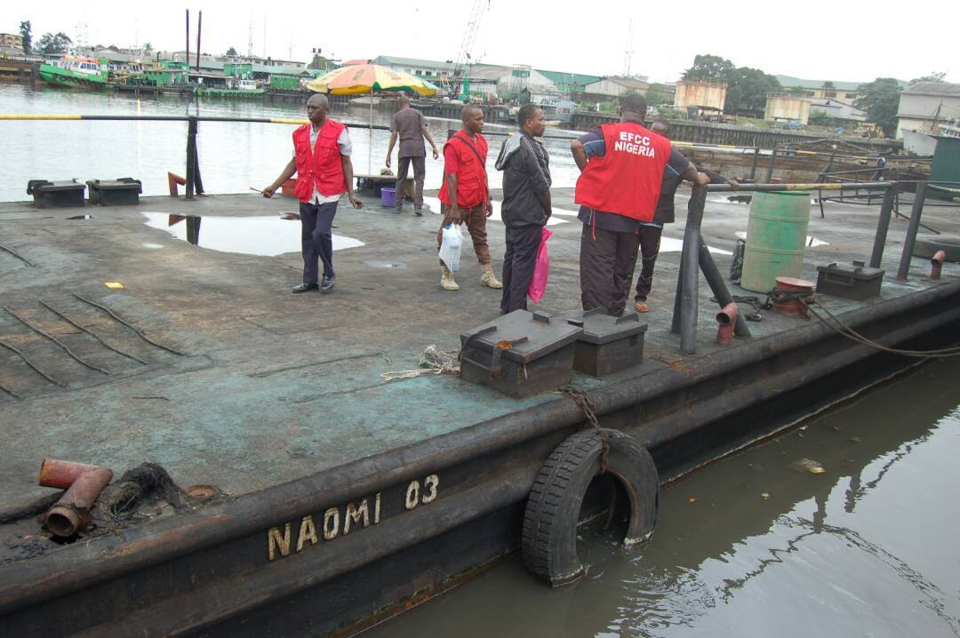 EFCC Parades 13 Oil Thieves In Port Harcourt [PHOTOS] -