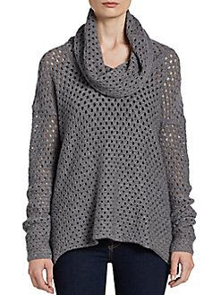 James Perse Wool-Blend Open Stitch Sweater