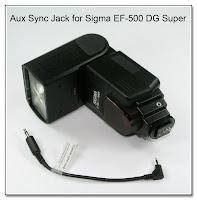 AS1029: Aux Sync Jack Mod for Sigma EF-500 DG Super Flash Unit