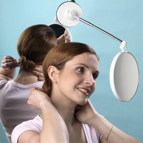 Shaving Heads Telescoping 6x To 1x Suction Cup Magnifying