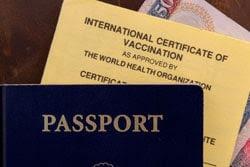 Passport and International Certificate of Vaccination