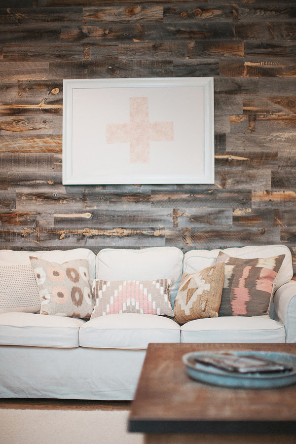 love is a big deal living room stikwood paneling stick wood west elm modern rustic style decorate