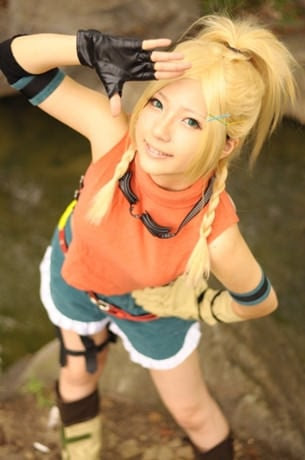 Un clin Final Fantasy Rikku Cosplay filles   ファイナルファンタジーx