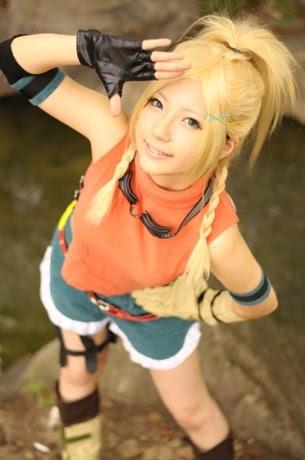 Arts et Spectacles: Un clin Final Fantasy Rikku Cosplay filles