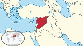 Localização  República Árabe da Síria