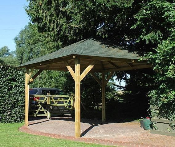 Classico Wooden Gazebo   4.3m x 4.3m Garden Canopy Kit ...
