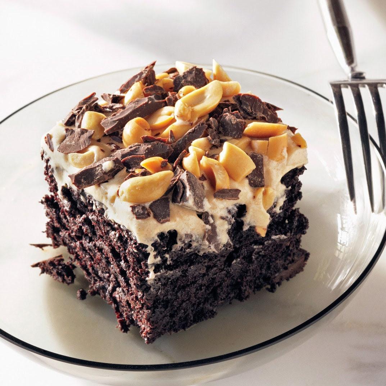 Chocolate-Peanut Butter Fun Cake recipe | Epicurious.com