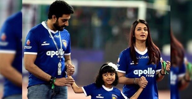 Aishwarya Rai Bachchan Shares Hug With Hubby At His Football Match