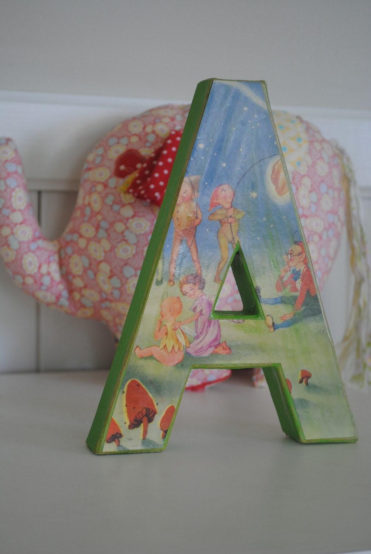 Letters                                             Custom made with vintage children's illustration