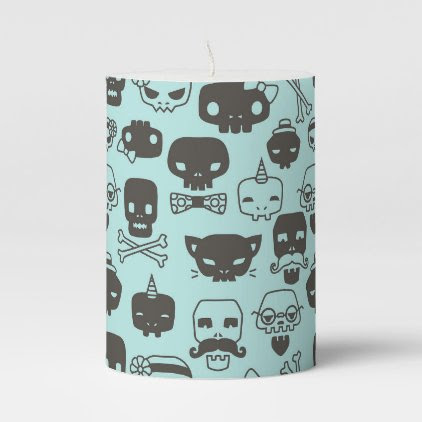 Personality Skull Pattern Candle - Mint