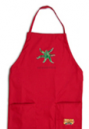 Apron red gold