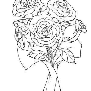 Beautiful Rose Coloring Page: Beautiful Rose Coloring Page ...