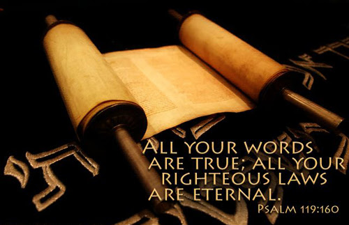 [Photo of a scroll with a Scripture verse superimposed]