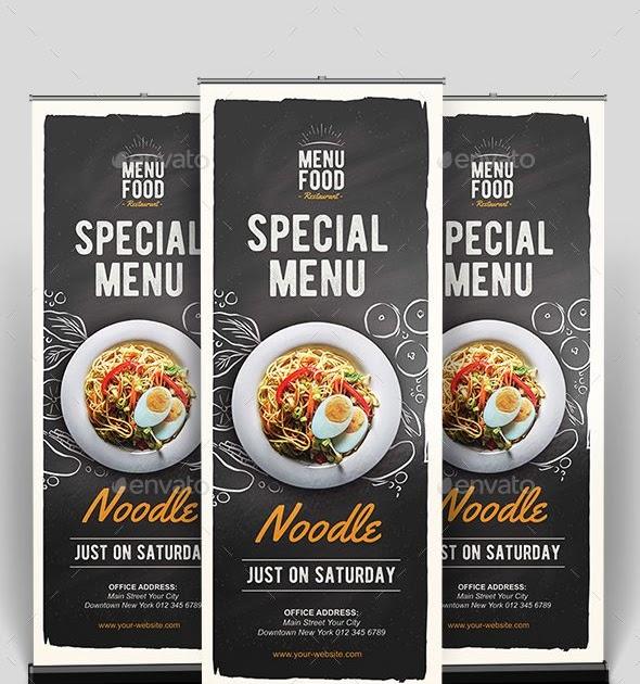 Desain X Banner Makanan Cdr - contoh desain spanduk