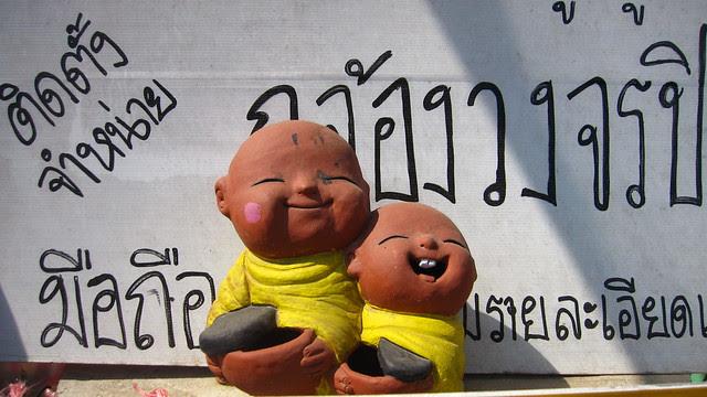 figurines, outside Mae Malai, Thailand