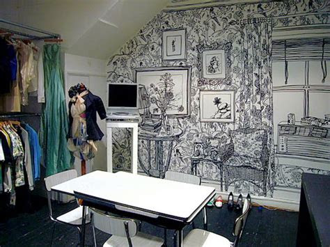 incredibly intricate wall drawings  charlotte mann