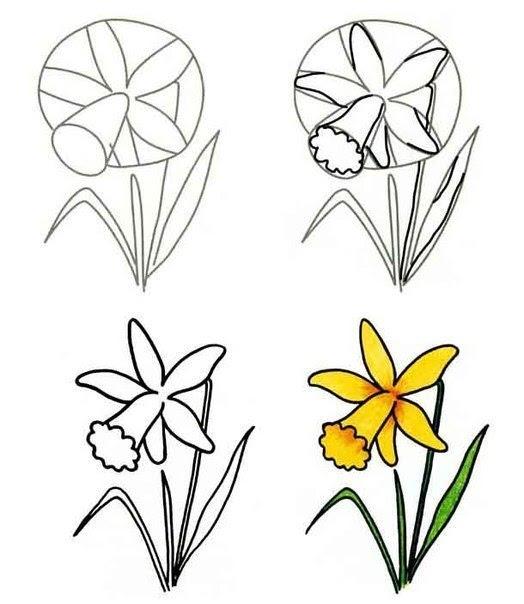 Blumen Malen Lernen Tutorial Dekoking Diy Mehr
