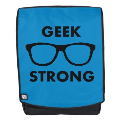 Geek Strong (Blue) Backpack