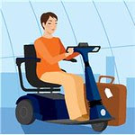 mobility challenged on scooter