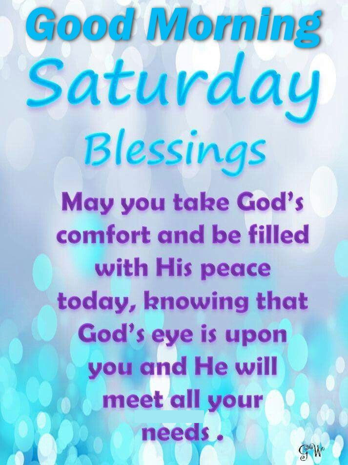 Good Morning Saturday Blessings Religious Quote Pictures Photos