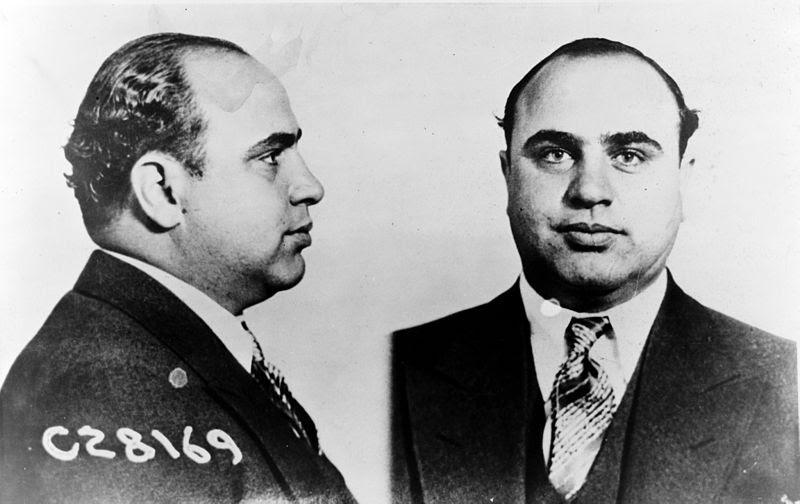 Al Capone caneca tiro CPD - Chicago Departamento de Polícia