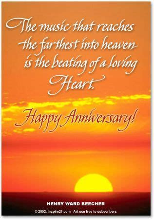 Anniversary In Heaven Poems     reaches the farthest