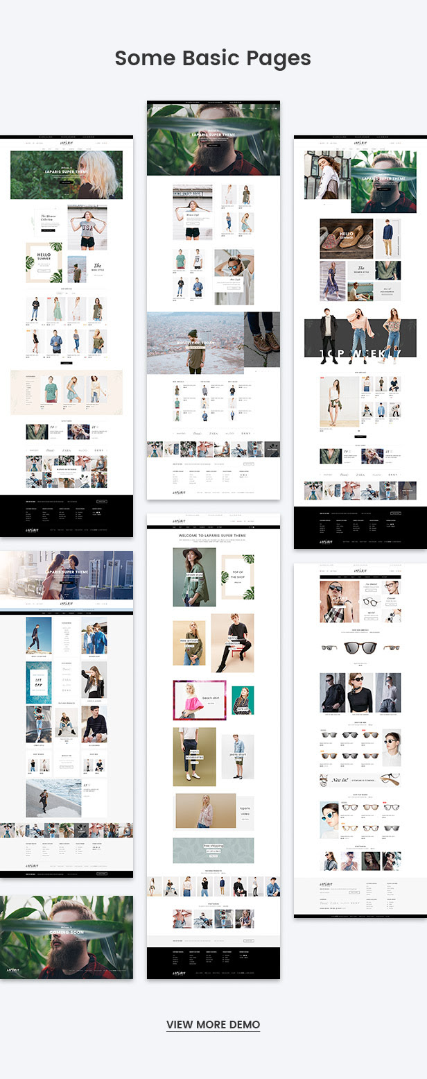 All basic pages for web shop