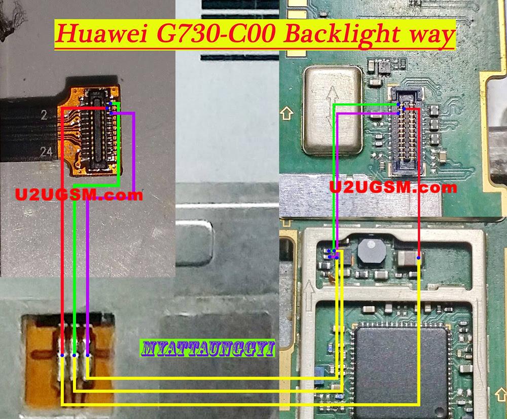 Huawei Ascend G730 Display Light Solution LCD Jumper Problem Ways