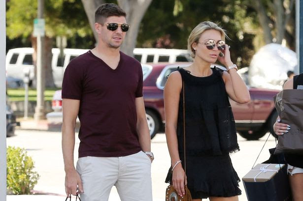 Steven was spotted with his wife Alex Gerrard